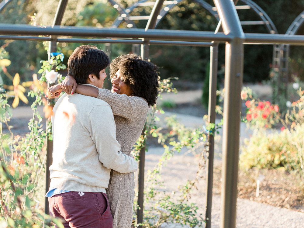 Wolfgang + Tanisha: Raleigh Arboretum Engagement // www.kristalajara.com