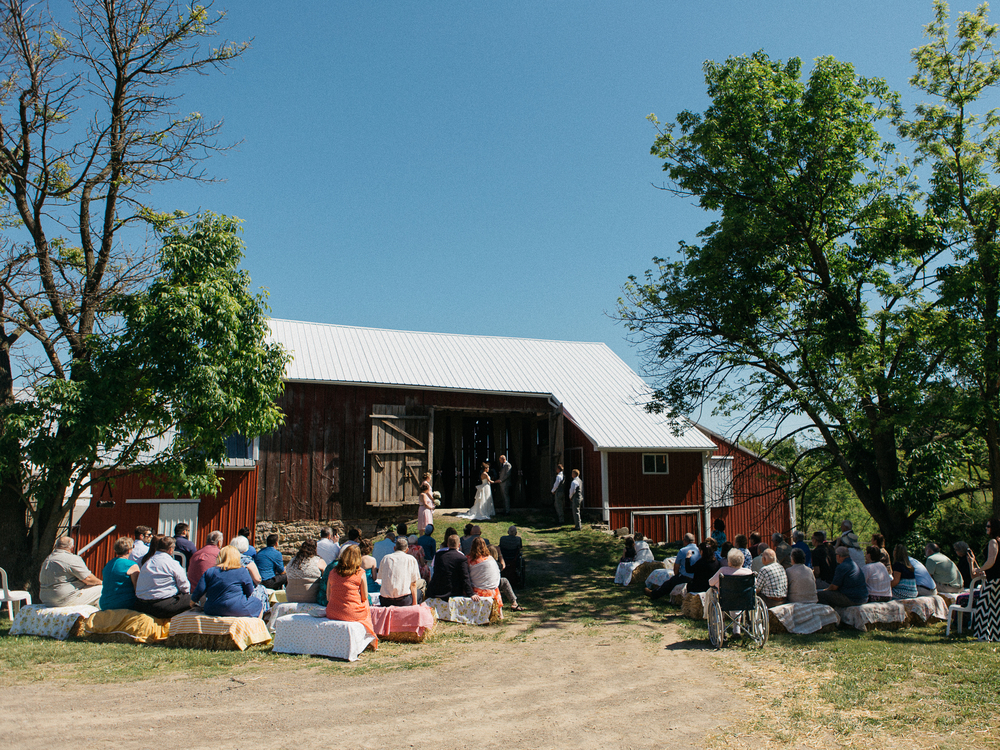 Rustic Barn Wedding in PA // www.kristalajara.com