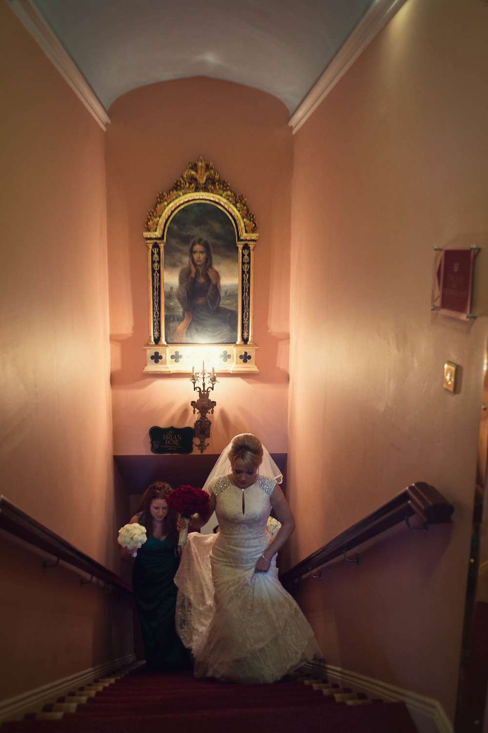 Dreamland Castle, bride on stairs