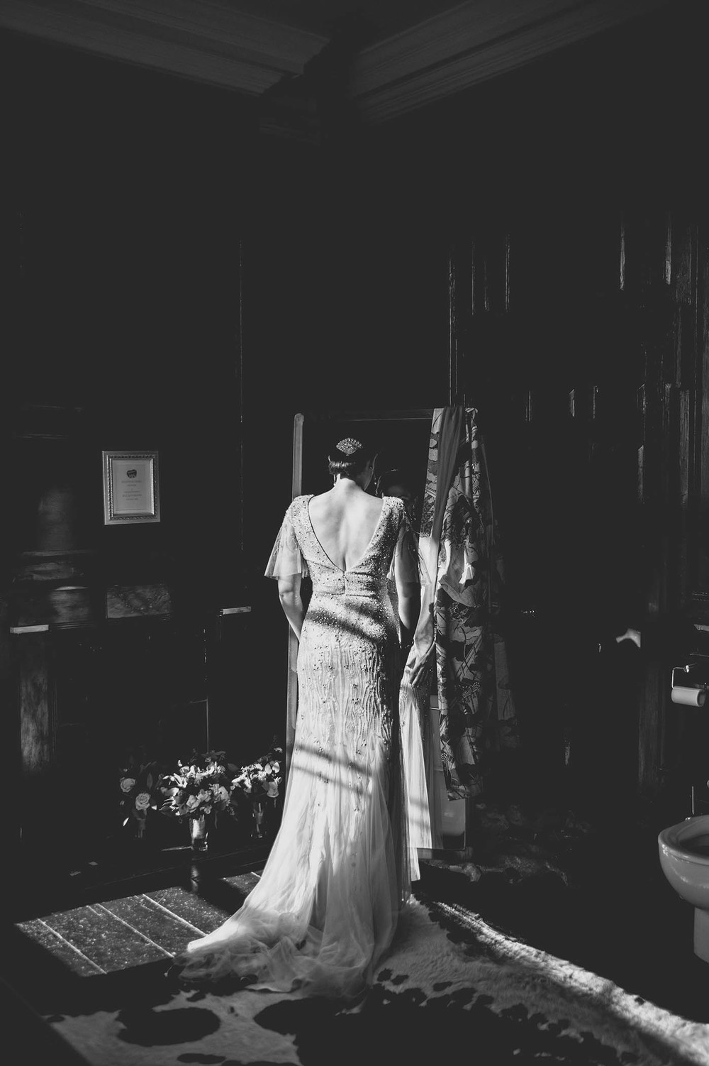 Bellinter House wedding, Photograph of bride