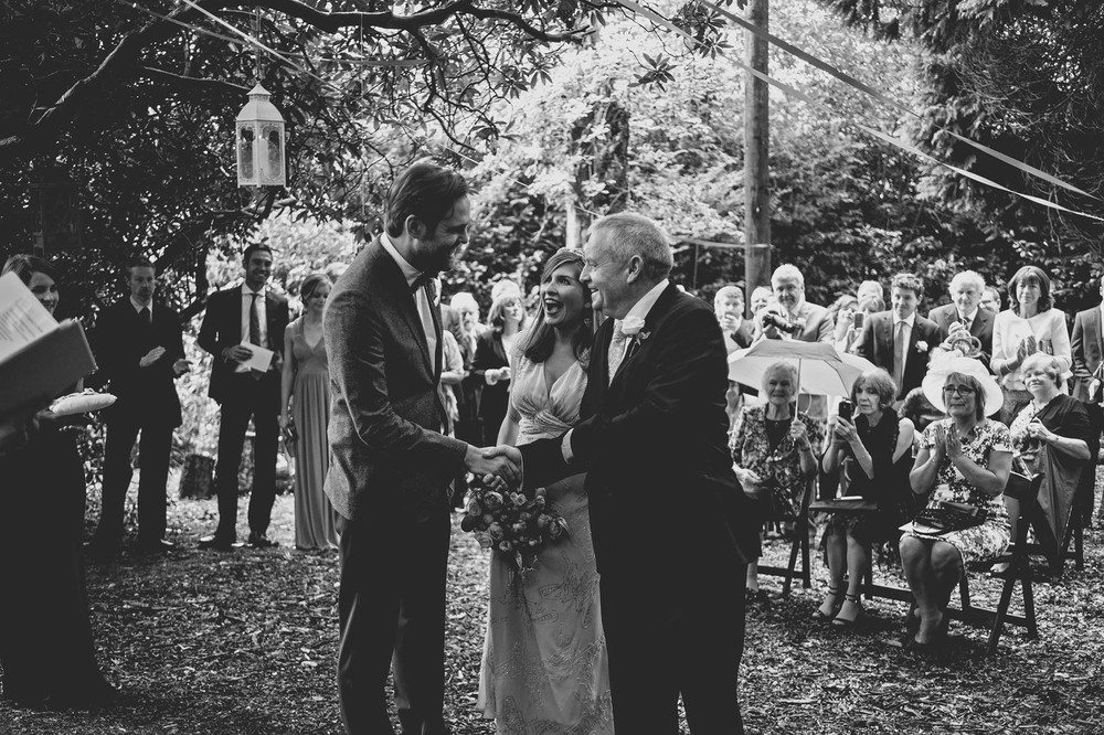Trudder Lodge outdoor wedding 2014