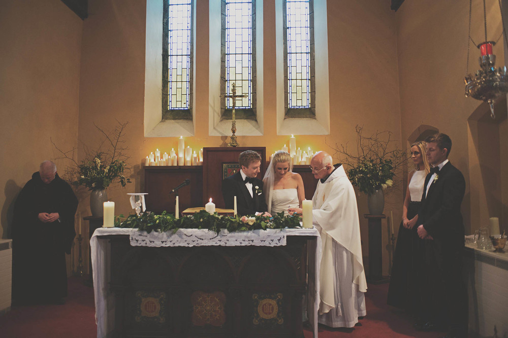 Powerscourt House wedding, church service 2014