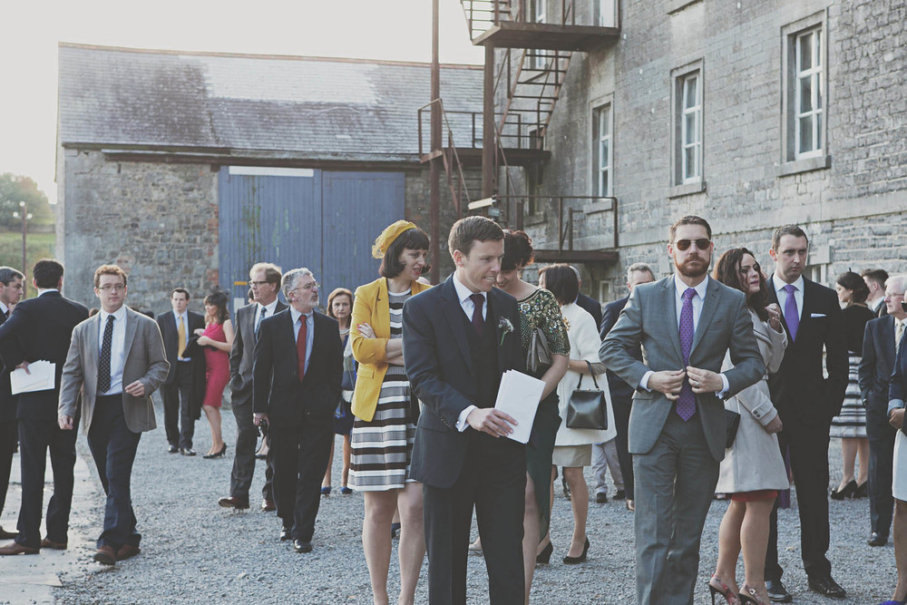 Wedding guests at The Millhouse, Slane