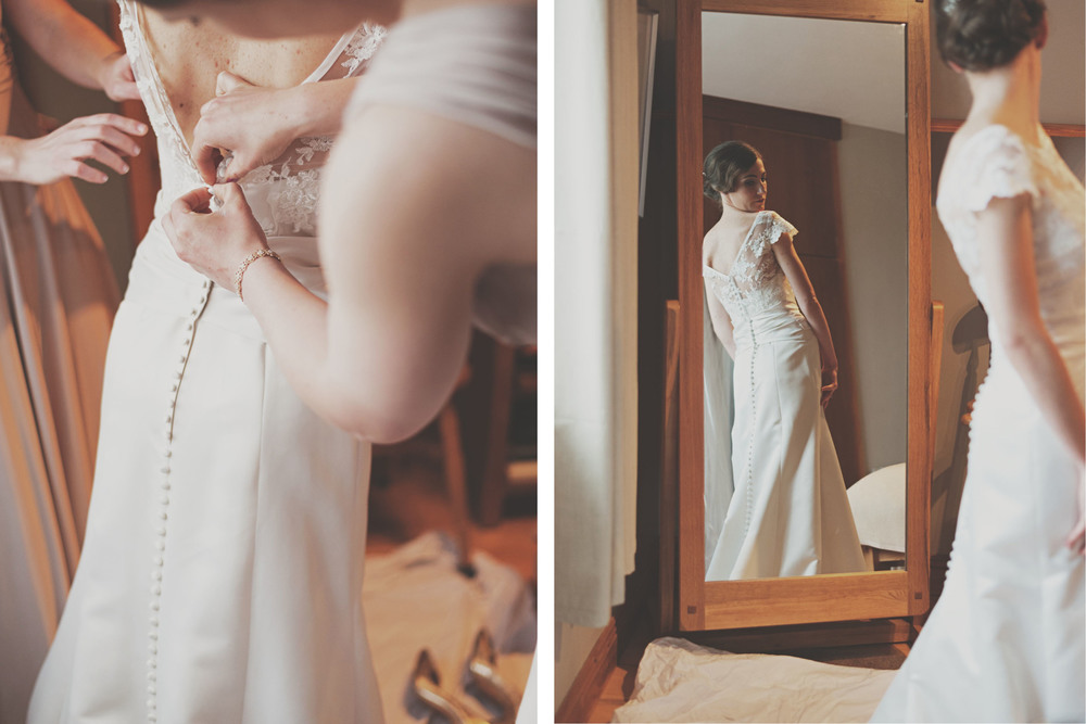 Brides dress at different angles