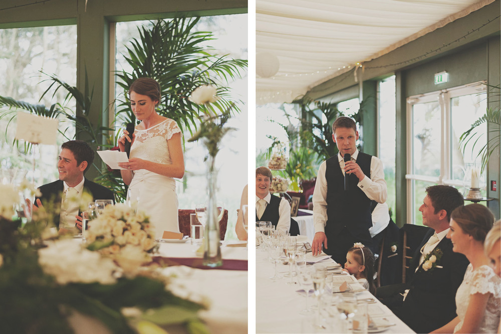 Wedding speeches at Tinakilly Country House