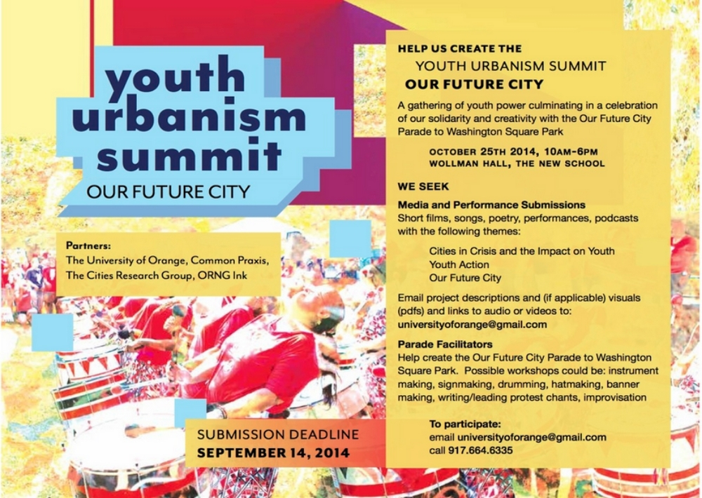 Youth Urbanism Summit: Our Future City, October 25th, 2014