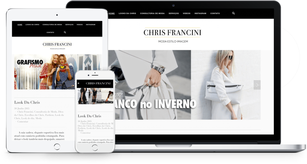 Site da Chris Francini Squarespace
