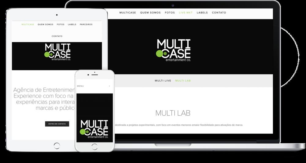 Site agencia Multicase - Squarespace