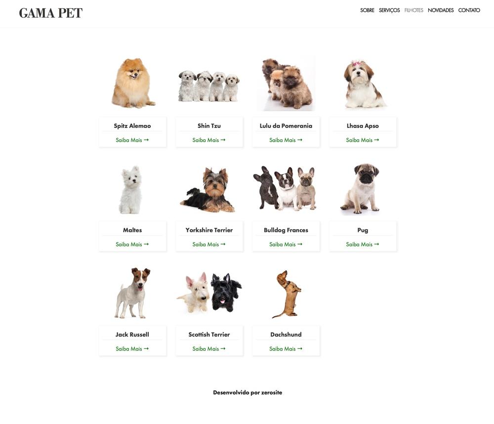 Produtos e serviços da Gama Pet , pet shop do cidade Jardim