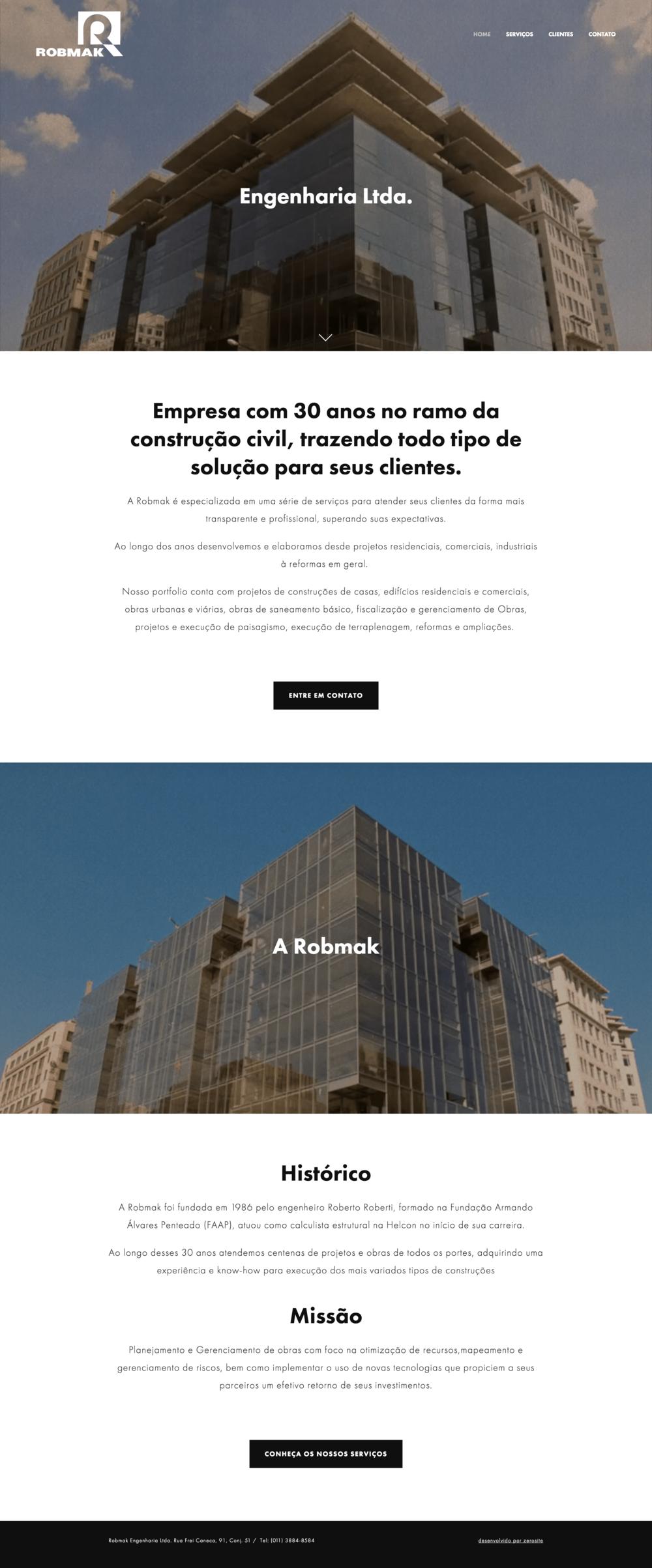 Robmak Engenharia site