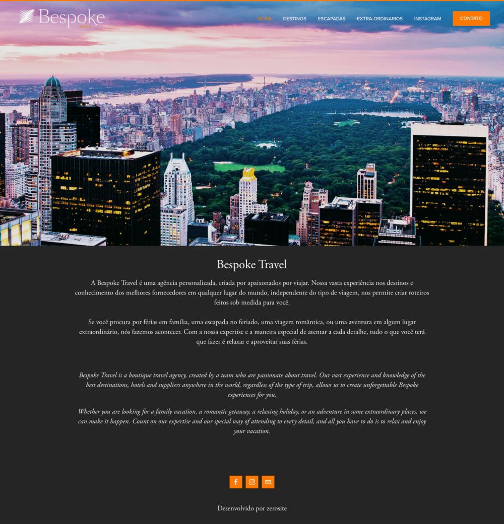 Bespoke Travel brasil site