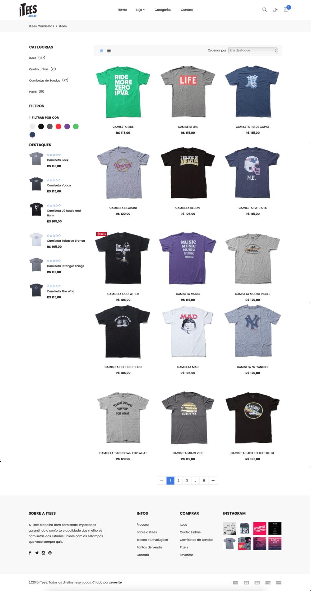 Loja de camisetas online