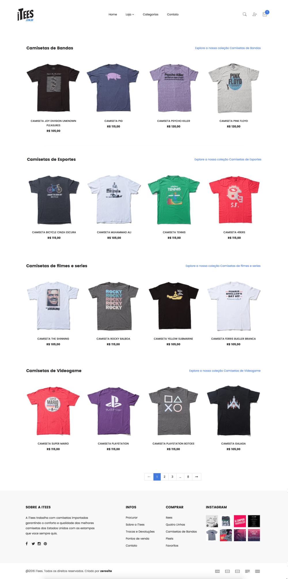 Camisetas de bandas, camisetas de videogame, e camisetas importadas femininas