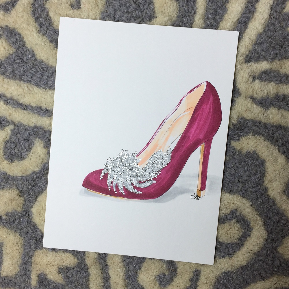 Manolo Blahnik Swan Satin Pump
