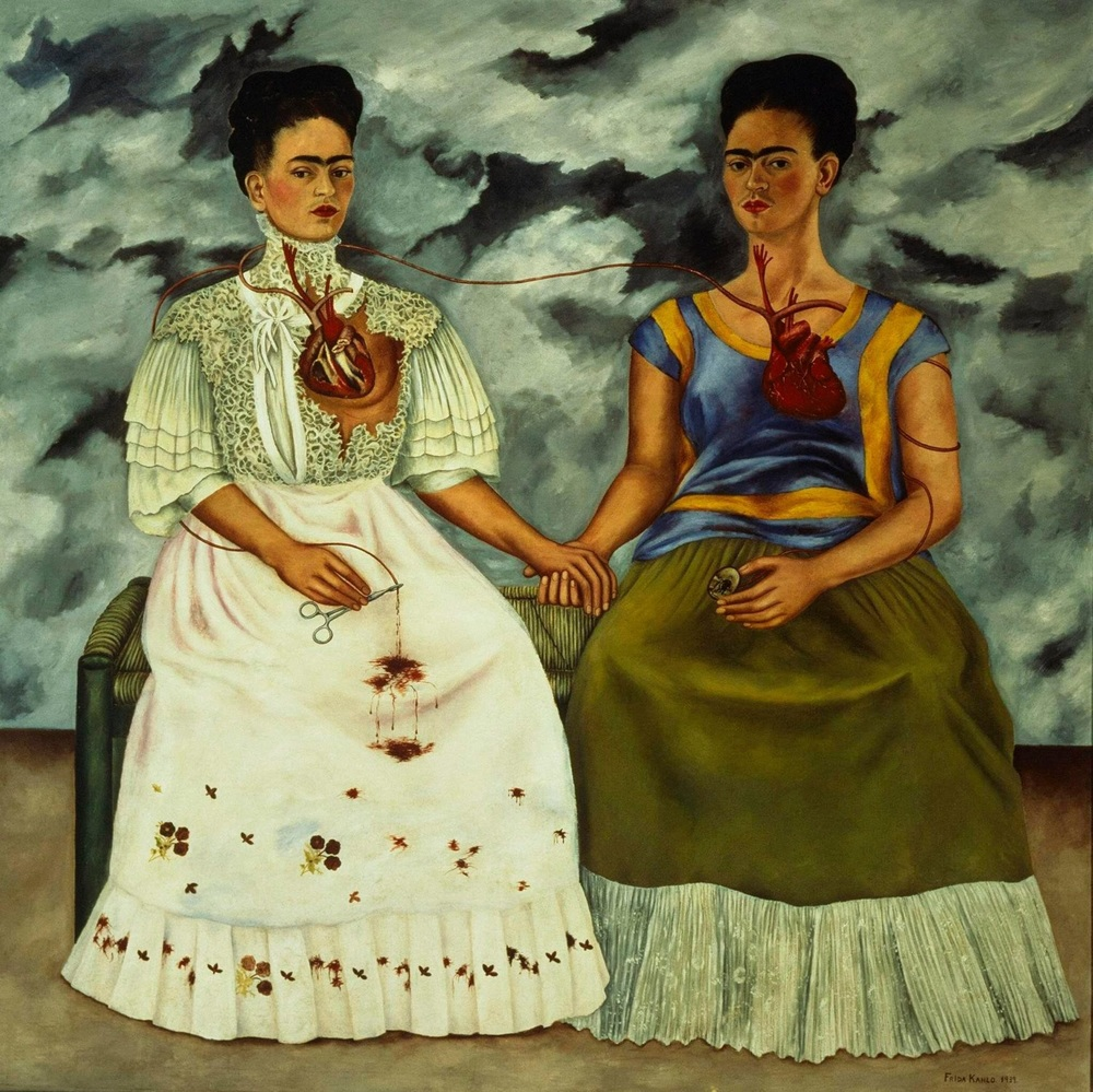 """Oil painting - """"The Two Fridas,"""" 1939"""