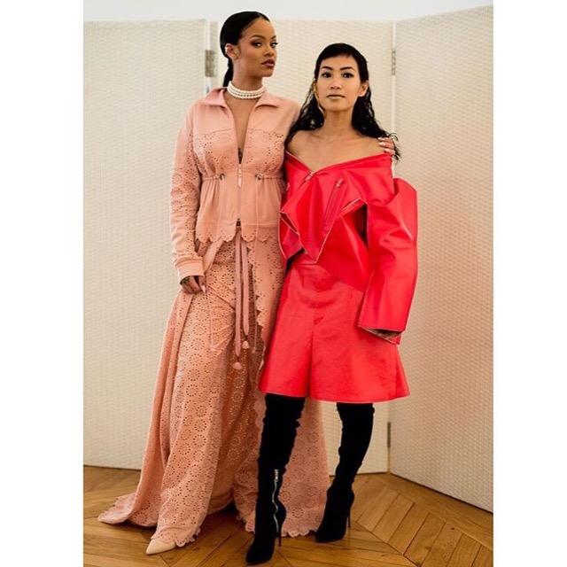 Rihanna and stylist, Nini Nguyen.