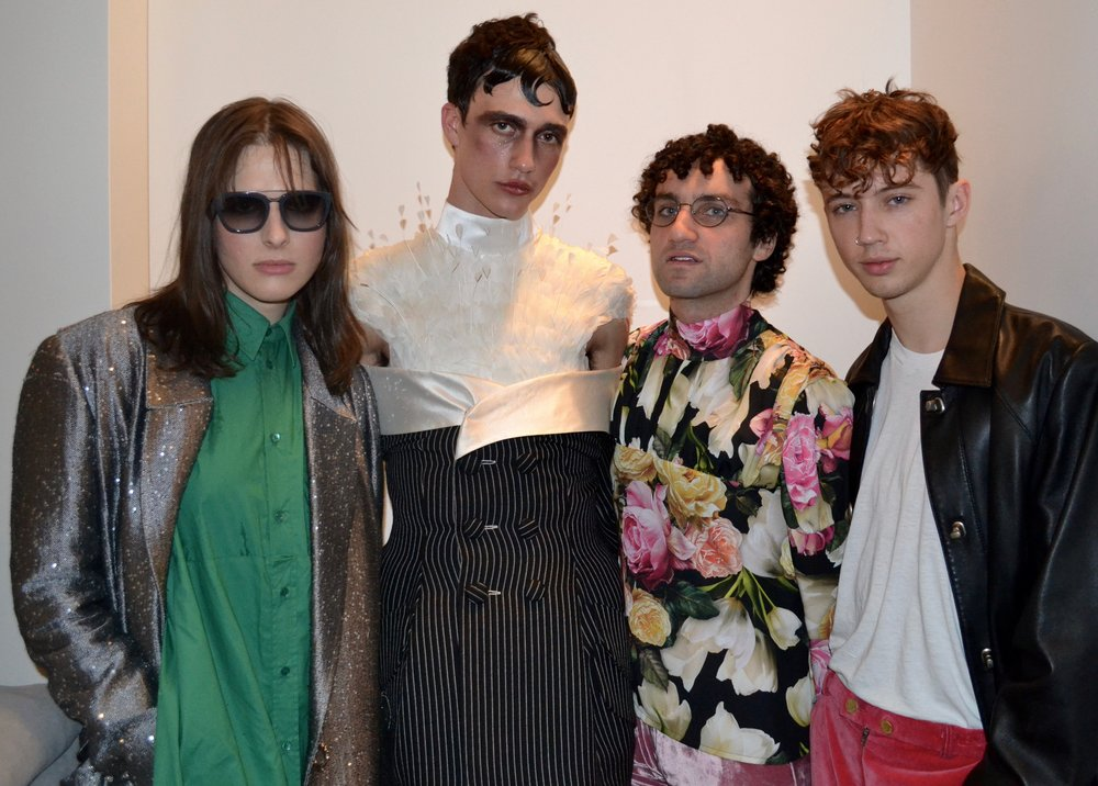far left Hari Nef, far right Troy Sivan