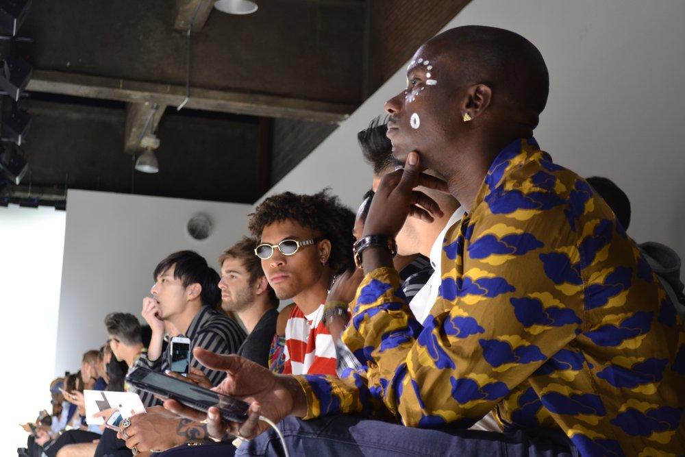 Far right: Young Paris front row at Carlos Campos.