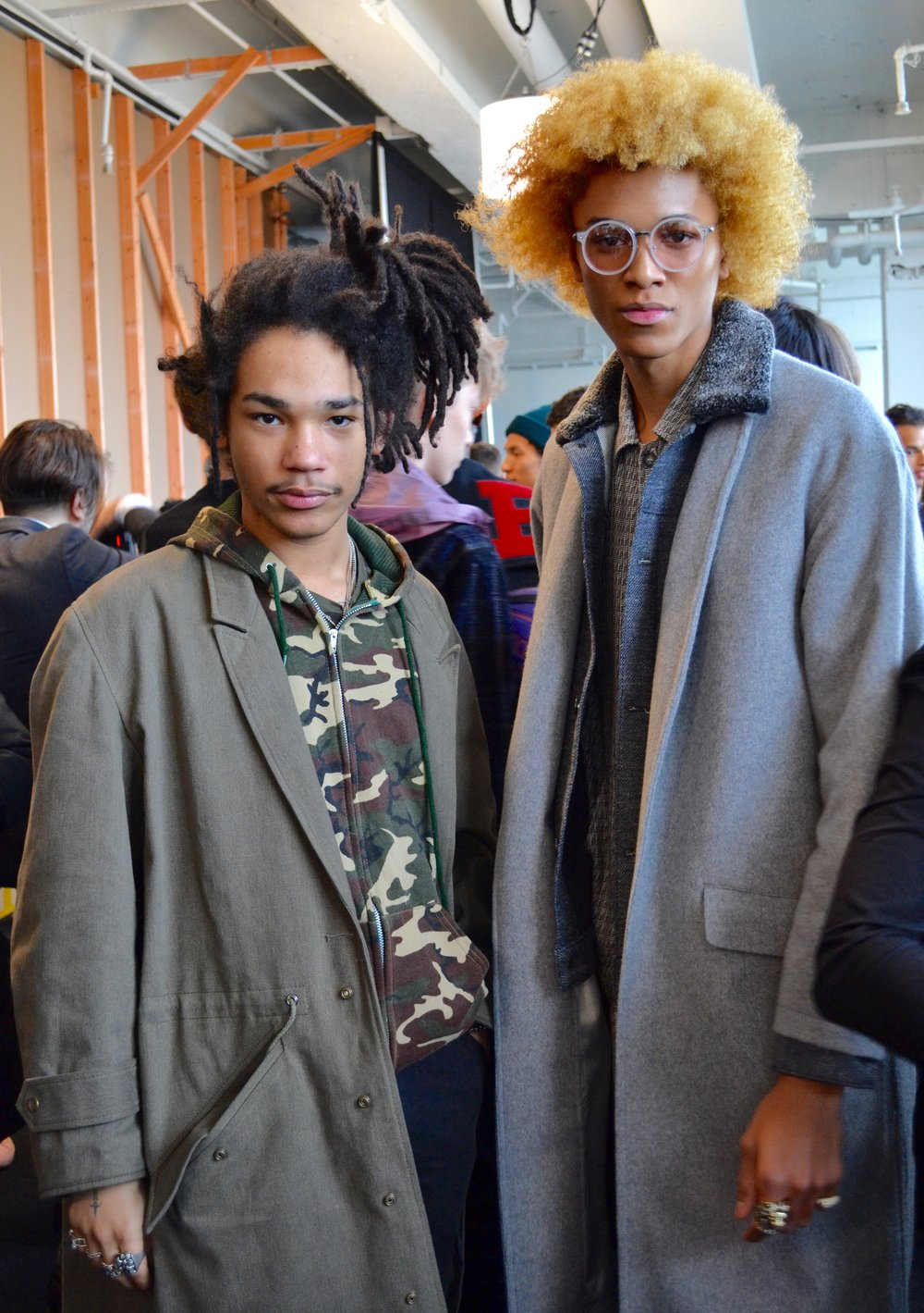 Luka Sabbat and model Michael Lockley.
