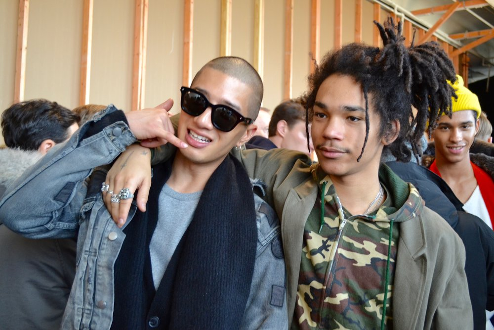 Luka Sabbat (right) and friend.