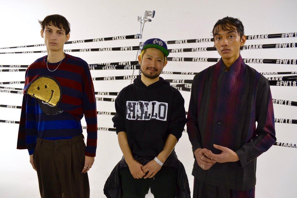Designer Takuya Morikawa (middle).