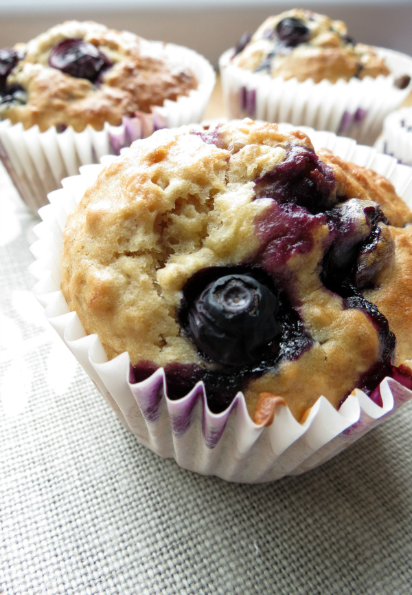 Low Fat Banana Blueberry Muffins 86