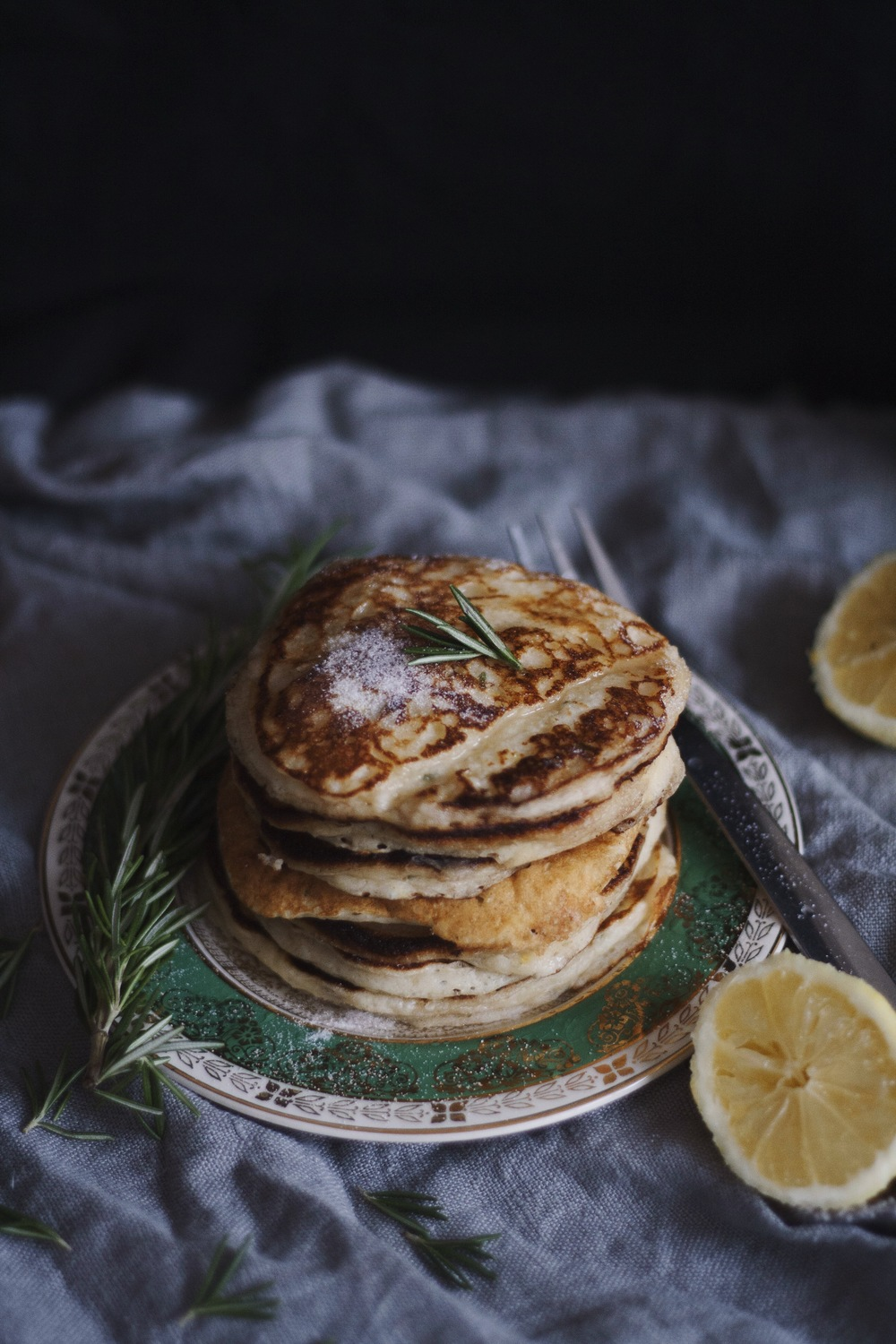 Lemon Rosemary Pancakes 1