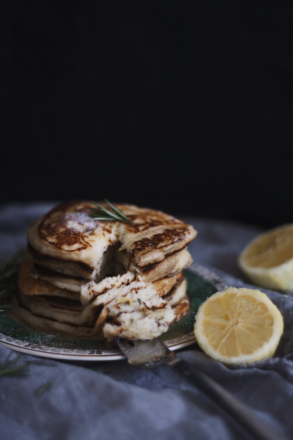 Lemon Rosemary Pancakes 4