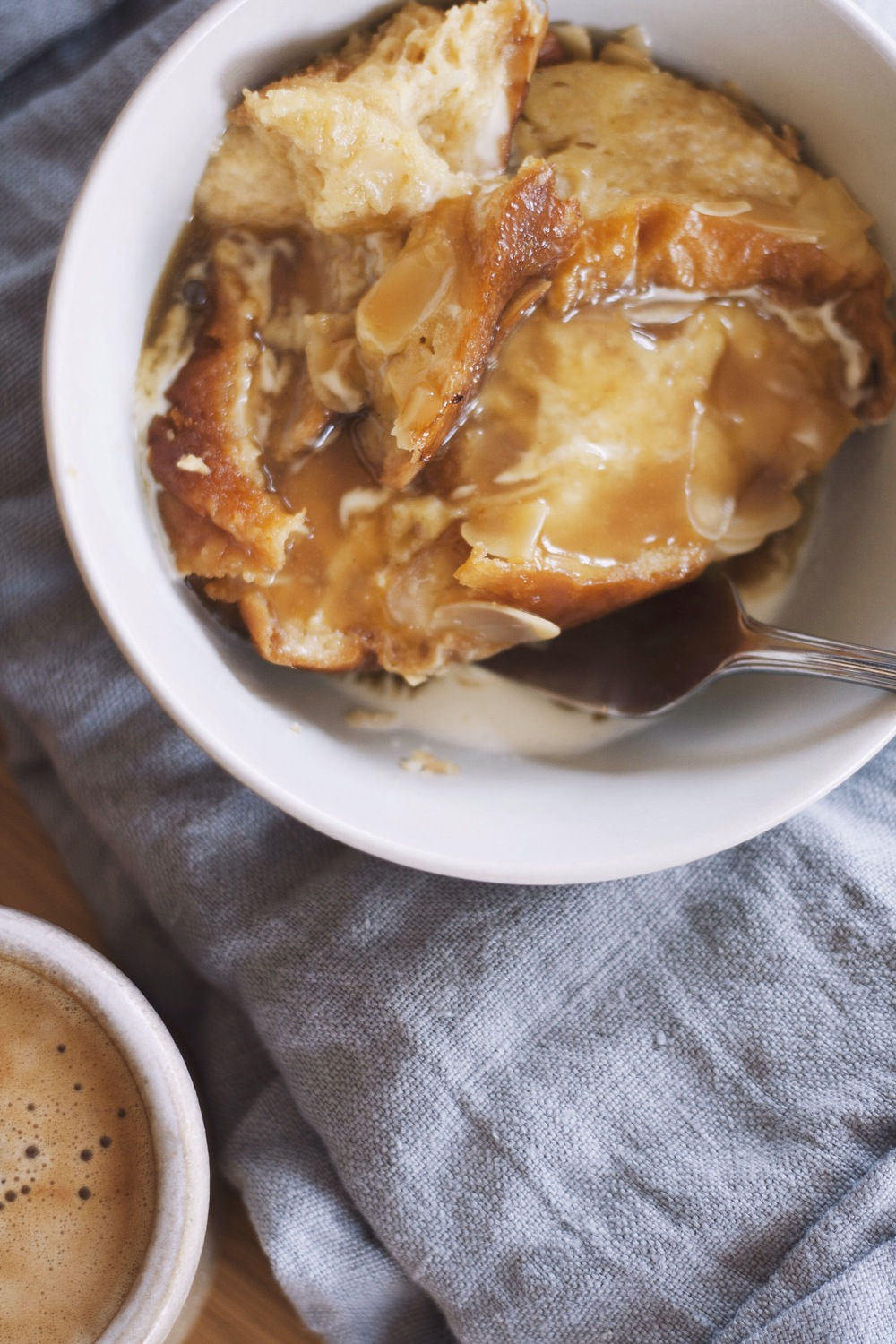 Slow Cooker Brioche Bread Pudding with Salted Butterscotch Sauce // The Cake Hunter