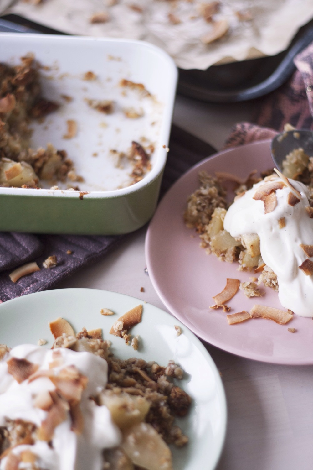 Pear, Cardamom and Coconut Crumble [refined sugar, gluten and dairy free] // The Cake Hunter