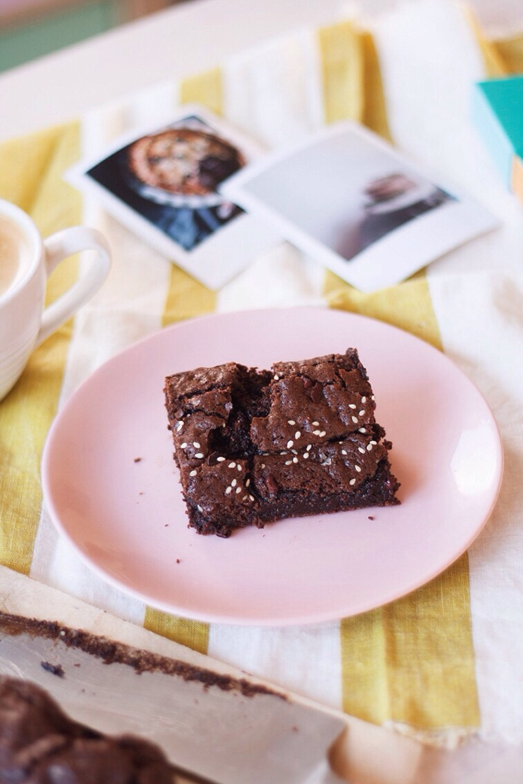 Salted Sesame Brownies [Dairy Free + Gluten Free] // The Cake Hunter