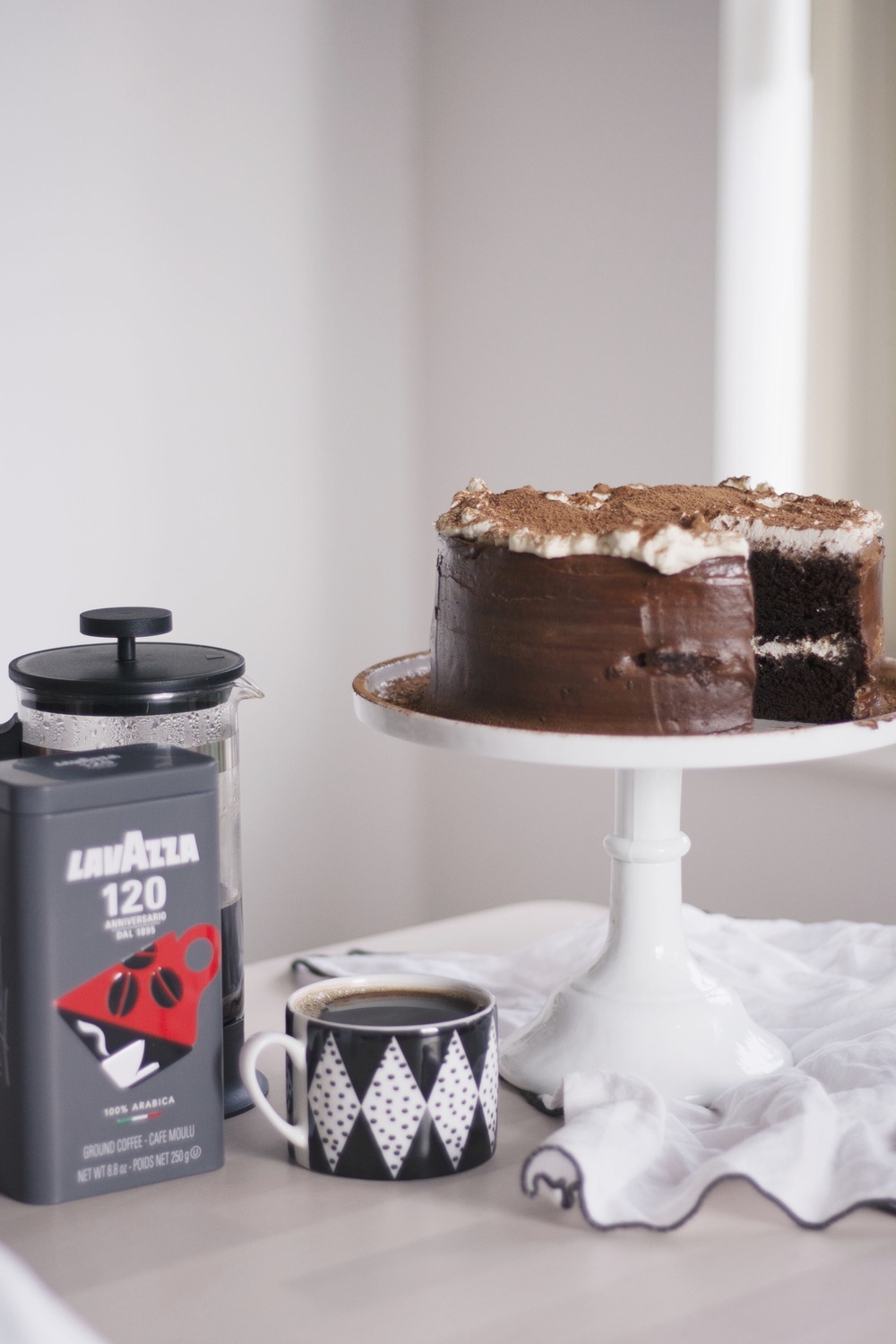 Chocolate Fudge Cappuccino Cake // The Cake Hunter