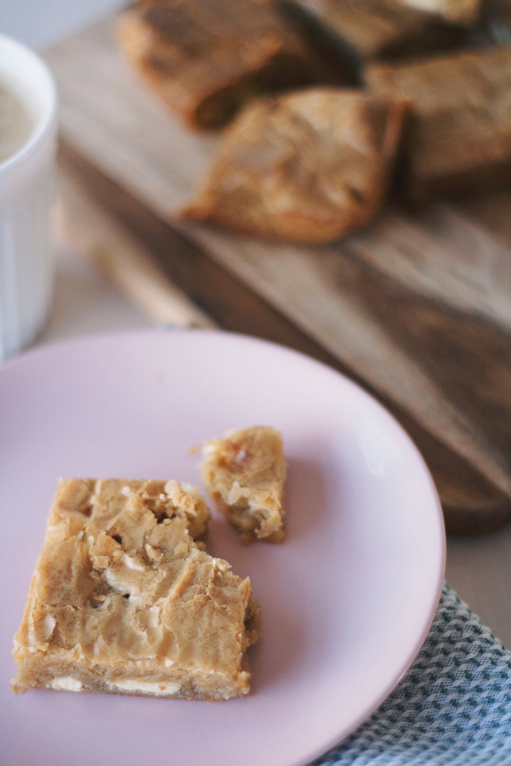 Ginger, Miso and White Chocolate Blondies // The Cake Hunter