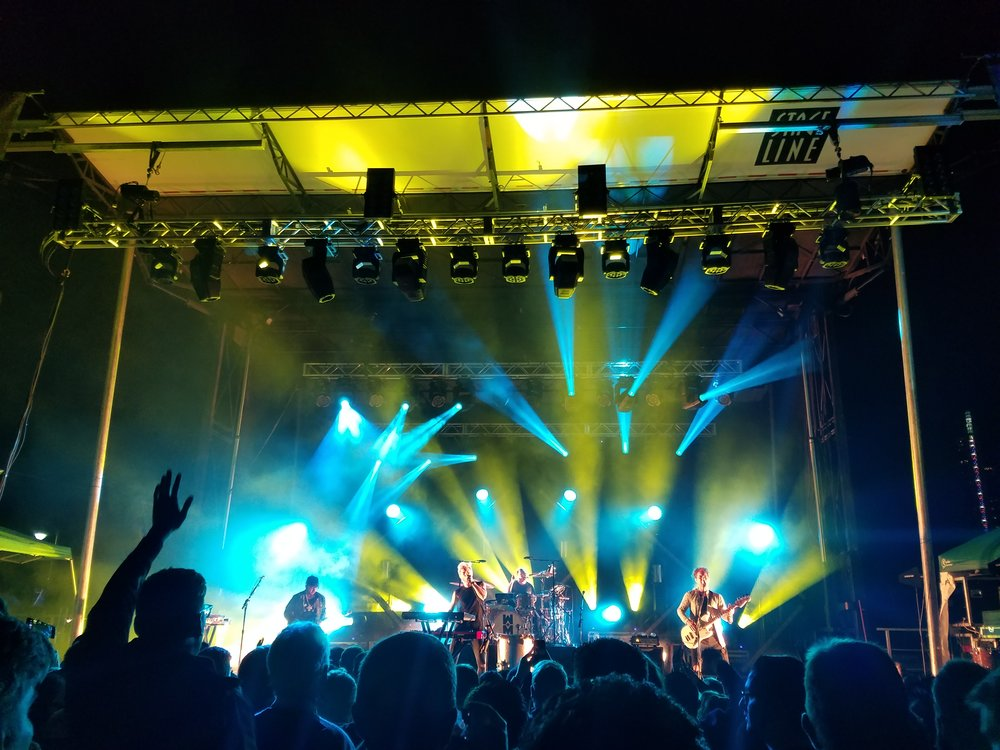 Walk The Moon in Austin, TX at the Tableau conference (2016)