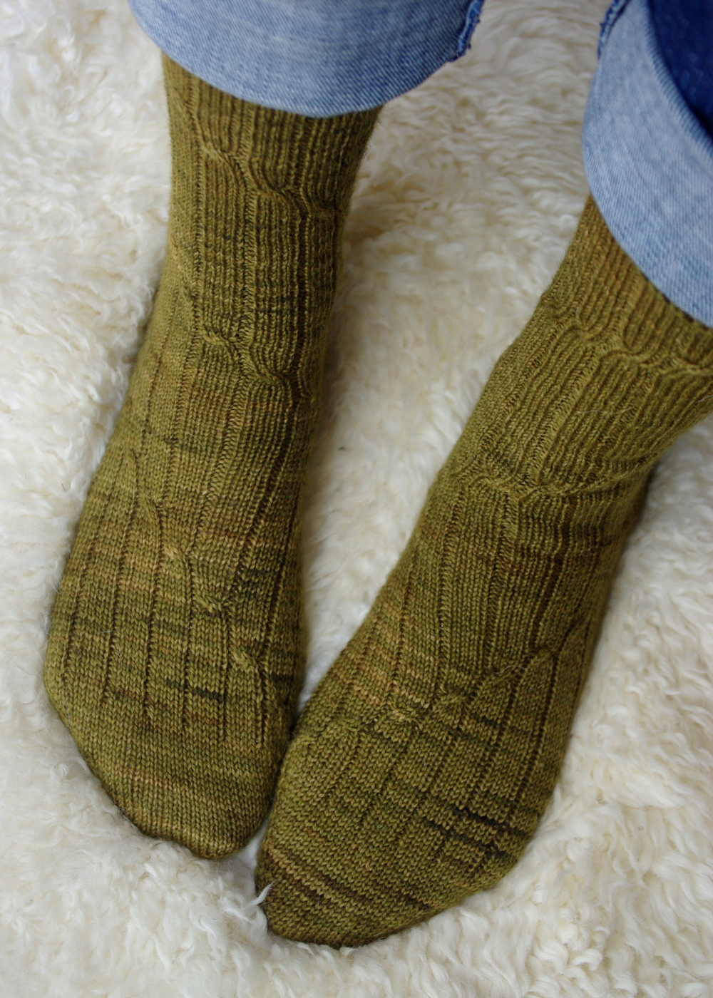 Barbe Socks, Designed by Leah B. Thibault for Ms. Cleaver Creations