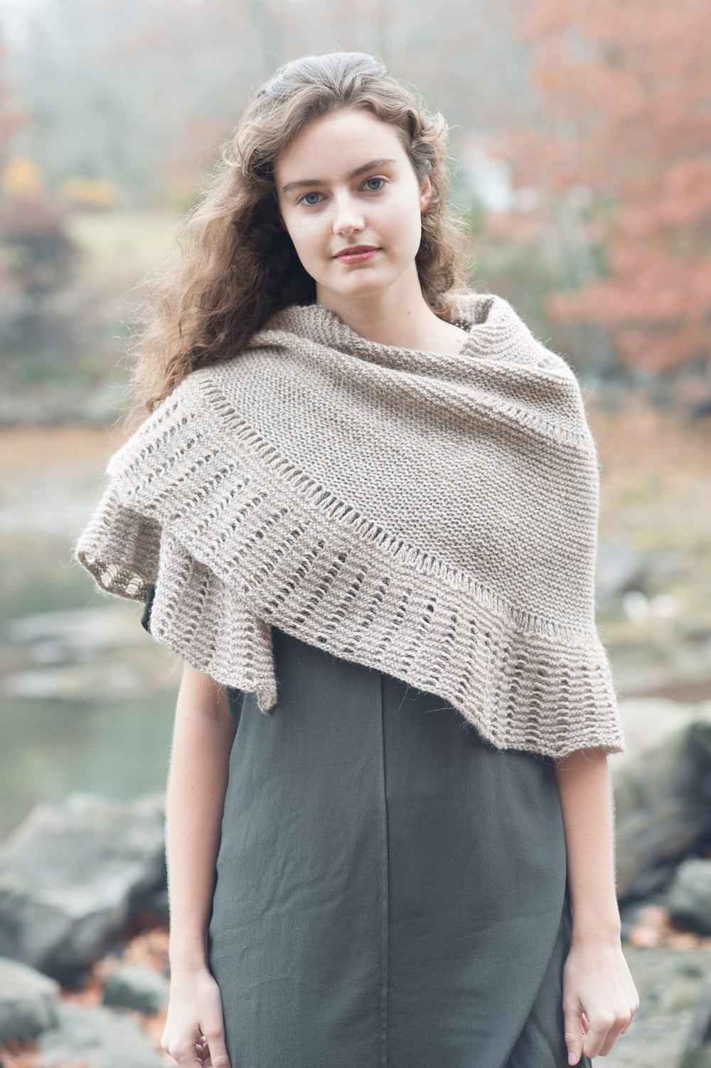 Leading Bird Shawl designed by Leah B. Thibault for Quince & Co.