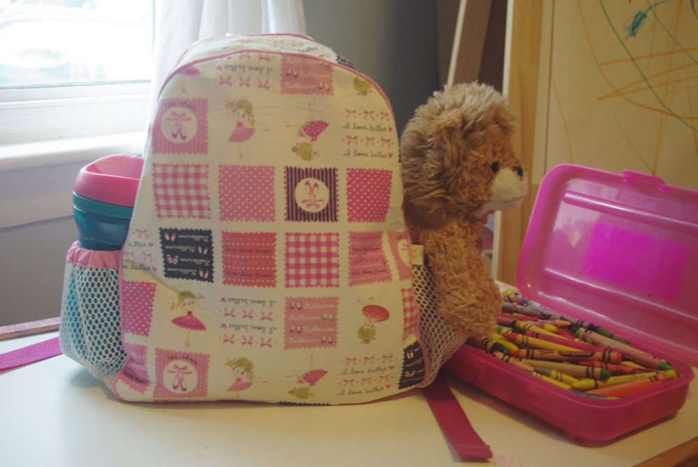 Toddle Backpack sewn by Ms. Cleaver