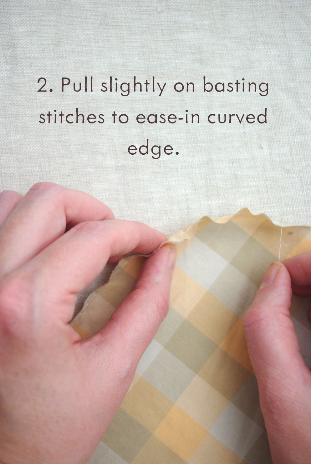 Curved Narrow Hem Tutorial by Ms. Cleaver