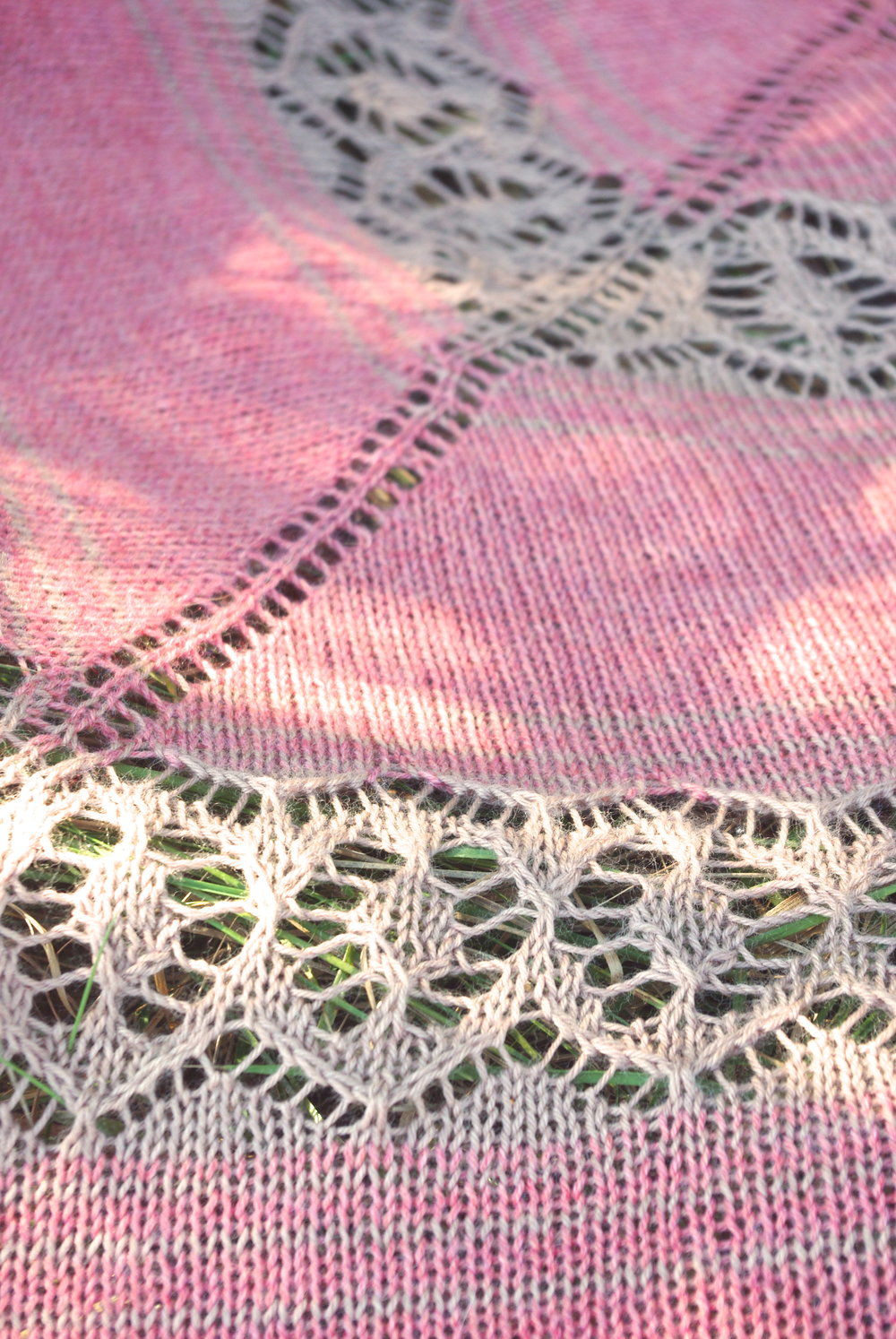 Ezekiel Saw Shawl by Leah B. Thibault