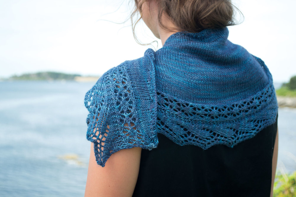 Cresting Waves Shawl for MAINE knits