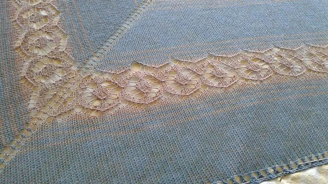Ezekiel Saw - design by Leah B. Thibault, knit by knitterripper