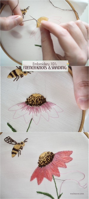 Embroidery 101 French Knots Shading Blanket Stitch And Finishing