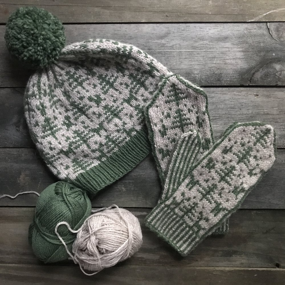 Woodland Hat and Mittens
