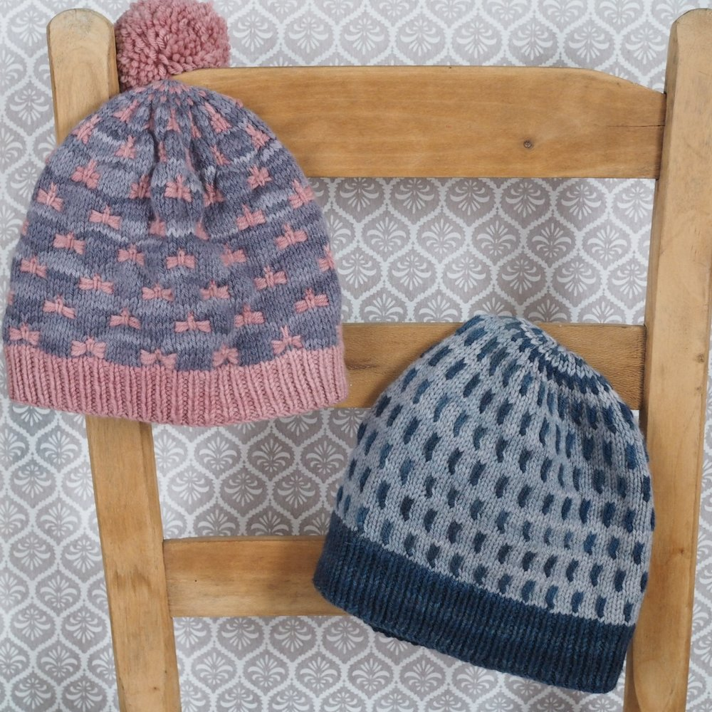 Sprout & Flutter Knit Hat Pattern by Leah B. Thibault