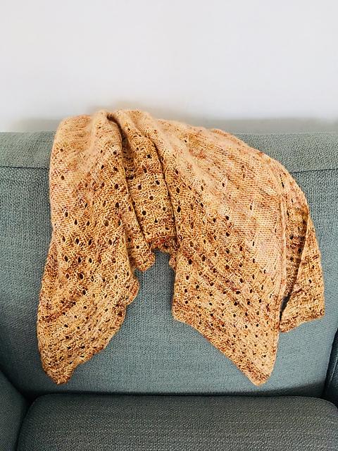 Summer Rain Shawl - knit by maplebuttermom