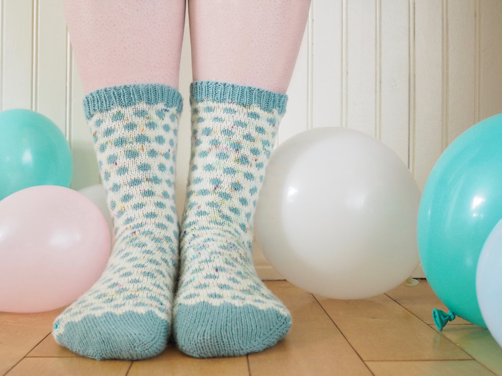 Polka Dot Party Socks for Taproot Magazine