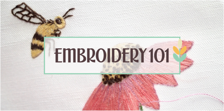 Embroidery 101 Coneflower And Bee Embroidery Ms Cleaver
