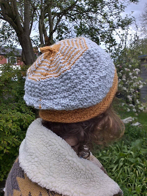 A Two-Color Dolan Beret knit by Frances 75