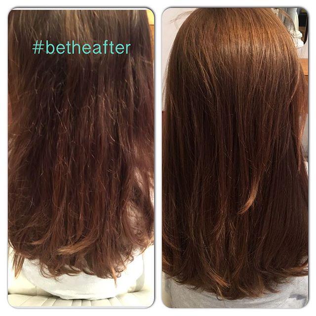 Both blast dried in less then 10minutes. #betheafter #zoltanhair #hair #hairstyle #hairdressing #hairdresser #hairtexture #digiperm #braziliankeratin #hairsmoothing #japanesestraightening ##digiperm #hairrepair