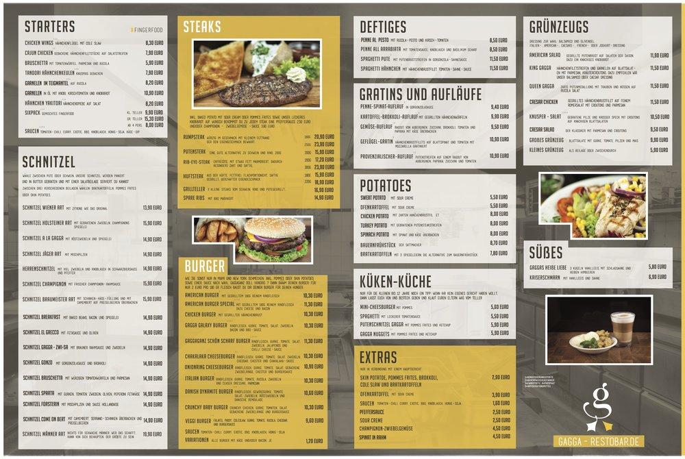 Unsere neue Speisekarte zum Download